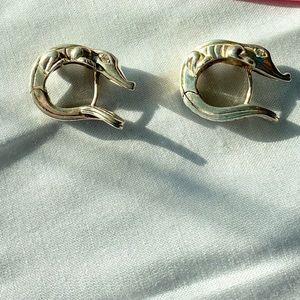 Barry Kieselstein Cord 925 Alligator Earrings.